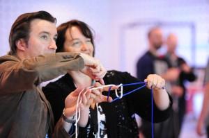 Building a Garrick Bend knot at Super Awesome Play Jam G4C ANZ 2012
